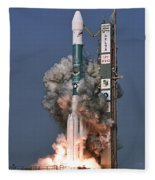 Delta II Rocket Launch Fleece Blanket