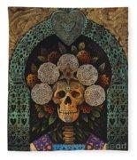 Dia De Muertos Madonna Fleece Blanket