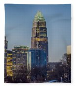 Early Morning In Charlotte Nc Fleece Blanket