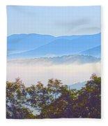 Early Morning On Blue Ridge Parkway Fleece Blanket