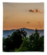 Early Morning Sunrise Over Blue Ridge Mountains Fleece Blanket