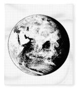 Earth Globe Fleece Blanket