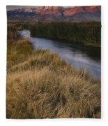 Eastern Sierras And Owens River Fleece Blanket