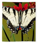 Eastern Tiger Swallowtail Butterfly Fleece Blanket