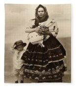 Ellis Island Women, C1910 Fleece Blanket