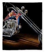 Evel Knievel Harley-davidson Chopper Fleece Blanket