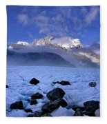 Exploration Of Ice Caves And Moulins Fleece Blanket