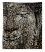 Face Of Buddha Fleece Blanket