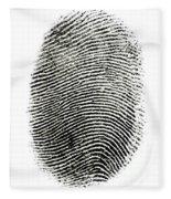 Fingerprint Fleece Blanket