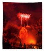 Fireworks Above Toce Falls, Formazza Fleece Blanket