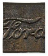 Ford Tough Antique Truck Logo Fleece Blanket