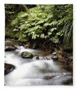 Forest Stream  Fleece Blanket