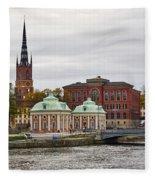 Gamla Stan. Stockholm 2014 Fleece Blanket