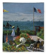 Garden At Sainte-adresse Fleece Blanket