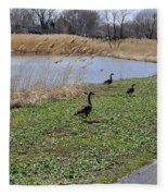 3 Geese Fleece Blanket
