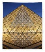 Glass Pyramid Fleece Blanket