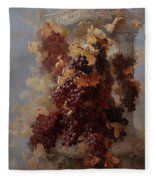 Grapes And Architecture Fleece Blanket