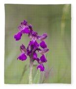 Green-winged Orchid Fleece Blanket