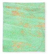Green Wood Fleece Blanket