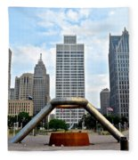 Hart Plaza Detroit Fleece Blanket