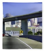 Heading Into The Busy Part Of San Francisco Fleece Blanket