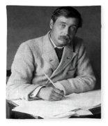 Herbert George Wells (1866-1946) Fleece Blanket