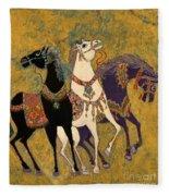 3 Horses Fleece Blanket