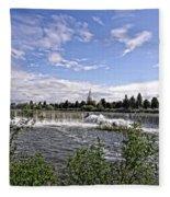 Idaho Falls Temple Fleece Blanket