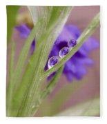 3 In A Row Reflection Rain Drops Fleece Blanket