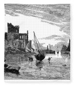 Isle Of Man Peel, 1885 Fleece Blanket
