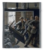 3. Jesus Drives Out The Money Changers / From The Passion Of Christ - A Gay Vision Fleece Blanket