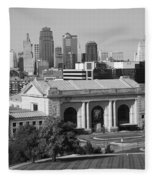Kansas City Skyline Fleece Blanket