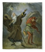King Lear, 19th Century Fleece Blanket