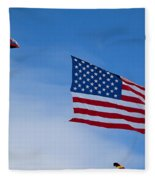 Kites On Ice Fleece Blanket