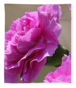 Lavender Carnations Fleece Blanket