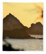 Linda Mar Beach - Northern California Fleece Blanket