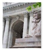 Lion New York Public Library Fleece Blanket