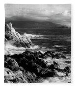 Lone Cypress On The Coast, Pebble Fleece Blanket
