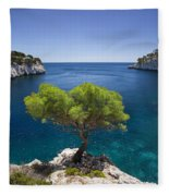 Lone Pine Tree Fleece Blanket