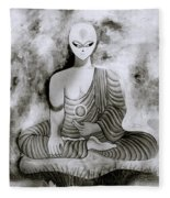 Lotus Position Fleece Blanket