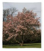 Magnolia Tree Fleece Blanket