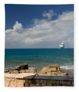 Majesty Of The Seas At Coco Cay Fleece Blanket