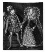 Mary, Queen Of Scots (1542-1587) Fleece Blanket