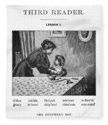 Mcguffey's Reader, 1879 Fleece Blanket