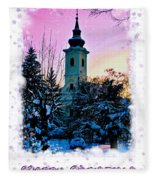 Christmas Card 22 Fleece Blanket