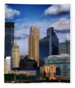 Minneapolis Skyline Fleece Blanket