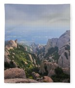 Montserrat Mountain Fleece Blanket