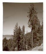 Mountainside Near Lake Tahoe Fleece Blanket