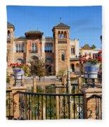 Mudejar Pavilion In Seville Fleece Blanket