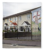 Mural In Shankill, Belfast, Ireland Fleece Blanket